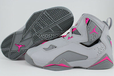 Nike Air Jordan True Flight Gray/pink Cool Women Girls Retro Hi High Youth Sizes
