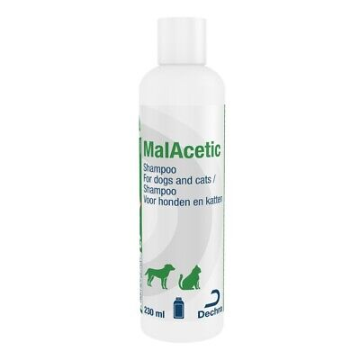 Malacetic Medicated Antibacterial Shampoo for Cats and Dogs Sensitive Skin 230ml