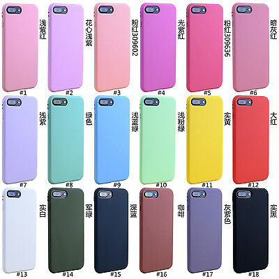 Ultra Thin Candy TPU Silicone Rubber Soft Case Cover For iPhone 7 Plus
