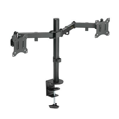 VonHaus Double Twin Arm LCD LED Monitor Desk Stand Mount for 13?-32? Screens