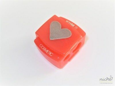 "PRECISION ""HEART"" PINK DUAL SIZE COSMETIC PENCIL SHARPENER - Made in GERMANY"