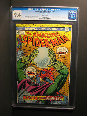 Amazing Spider-Man  #142  CGC 9.4  3/75  WHITE Pages!  Mysterio Appearance!