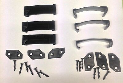 Set of 6 replacement Hedgehog Golf Winter Trolley wheel cover brackets clips