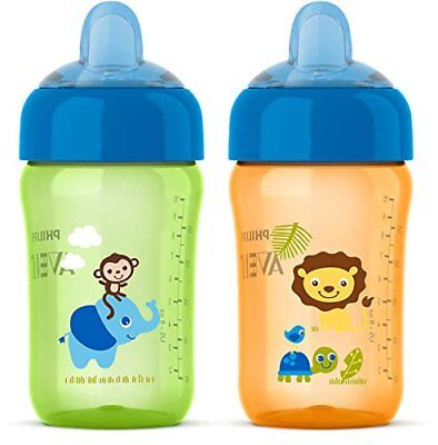 Philips Baby AVENT 2 Bottles Piece My Sip N Click Cup BPA-Free, 12 Ounce NEW