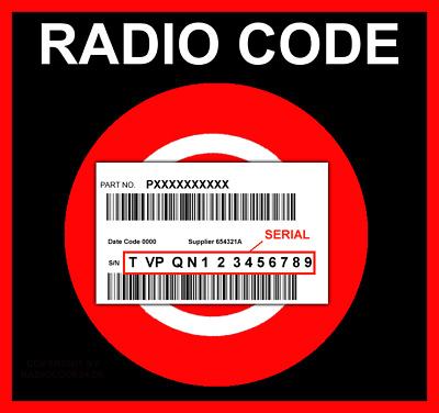 █►RADIO CODE CONTINENTAL Chrysler Jeep Cherokee UNLOCK KEY - SERIAL: TVPQN...