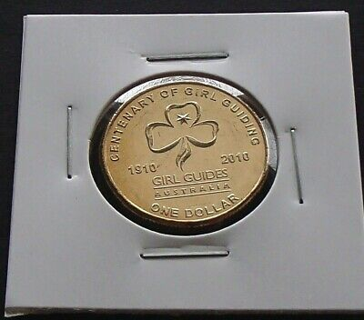 2010 Australia One $1 Dollar Uncirculated Coin Centenary of Girl Guides Ex Roll