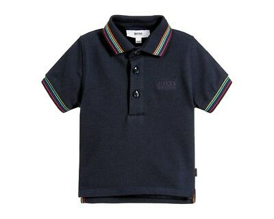Hugo Boss Baby J05601 849 Cotton Polo Shirt Navy Boys Polo