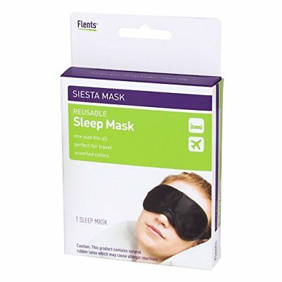 2 Pack Flents Reusable Sleeping Eye Mask Travel Siesta Mask One Size Fits Most