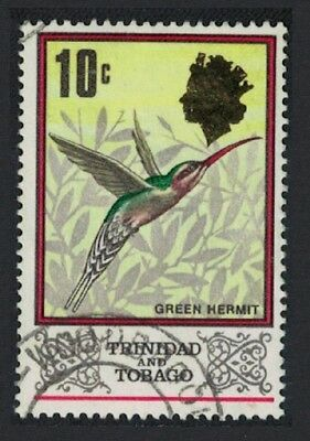 Trinidad and Tobago Green Hermit Bird 1v 10c canc SG#344