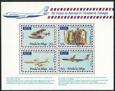 Trinidad and Tobago 50th Anniversary of Airmail Service MS SG#MS507