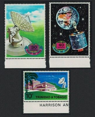 Trinidad and Tobago Satellite Earth Station 3v Bottom margins SG#403-405