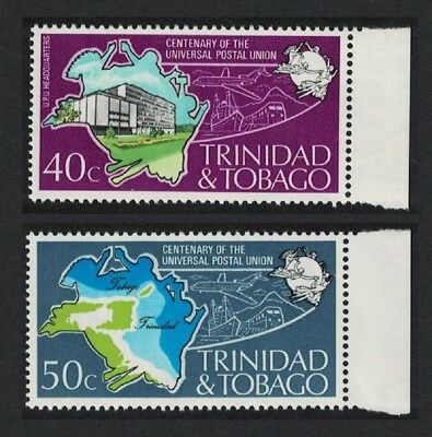 Trinidad and Tobago Centenary of UPU 2v Right Margins SG#451-452