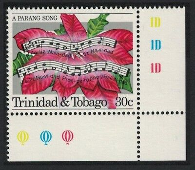 Trinidad and Tobago Poinsettia Flowers Music Parang Festival 1v 30c Corner with