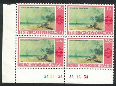 Trinidad and Tobago 'Los Gallos Point' by J. Cazabon 1v 35c Corner Block of 4