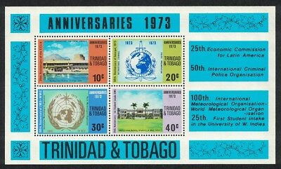 Trinidad and Tobago Anniversaries Events described on stamps MS No Watermark