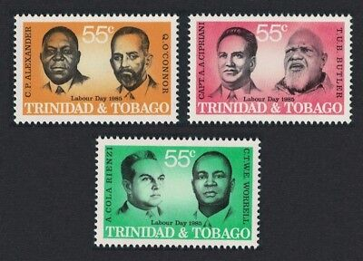 Trinidad and Tobago Labour Day Labour Leaders 3v SG#673-675