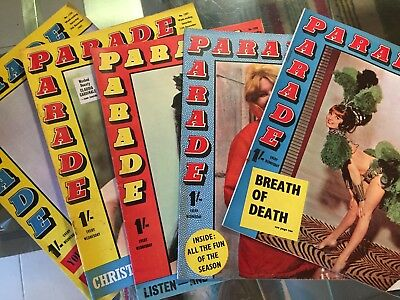 Five x 1965/6 Parade Magazines - See Pix for Issue Numbers and Dates (L7)