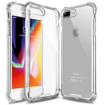 Clear Hybrid Shockproof TPU Hard Bumper Cover For iPhone 6 7 8 iPhone8 Plus Case