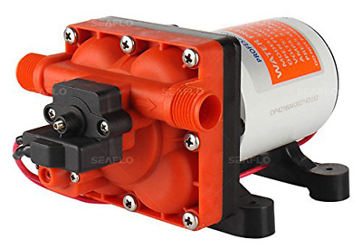 Seaflo 12V 3.0 GPM 55 PSI Water Pressure Diaphragm Pump with Internal Bypass Val