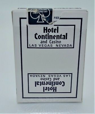 Casino Playing Cards - Continental Hotel Blue Deck Las Vegas NV Used Uncut