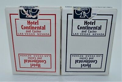 Casino Playing Cards - Set of 2 Continental Hotel Decks Las Vegas NV Used Uncut