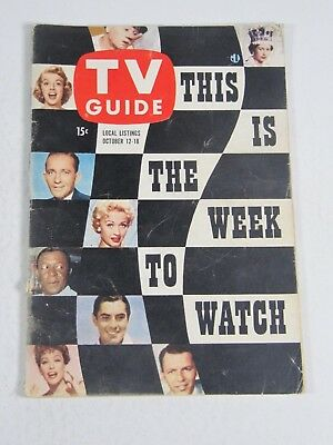 TV Guide Magazine October 12-18, 1957- This is The Week To Watch Vintage