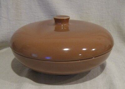 Russel Wright Iroquois Casual Apricot Covered Serving Bowl
