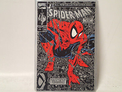 SPIDER-MAN issue #1 Marvel Comics 1990 NM McFarlane Black & Silver variant