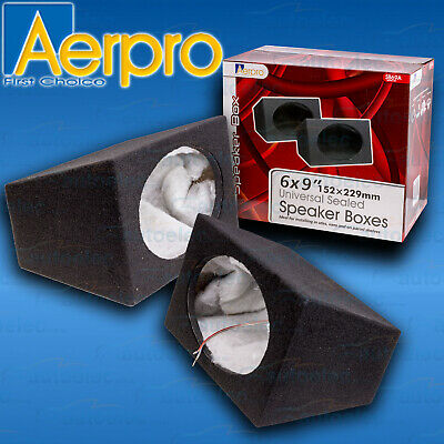 "Aerpro Pair 6X9"" Speaker Enclosure Seal Box Surface Mount Mdf Cabinet Car Sb69A"