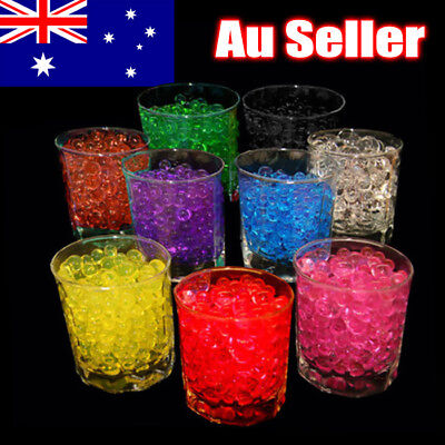 10g-100g Crystal Soil Water Gel Beads Jelly Ball Decoration Wedding Party OZ
