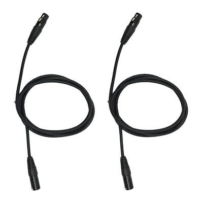 2pcs 6ft 3 Pin XLR Male to Female Microphone Cable Mic Audio Adapter Cable