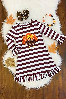 Toddler Baby Girls Dress Thanksgiving Party Pageant Dresses Kid Clothes US STOCK