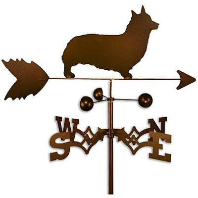 Handmade Welsh Corgi Pembroke Dog Copper Weathervane Roof Mount
