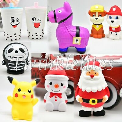 Squishy Soft Squeeze Stress Toy Slow Rising Charms Pikachu Llama Santa Squishies