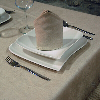 Luxury Top Quality Linen Jacquard Tablecloth - Rectangle - Large Sizes