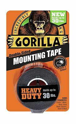 "Gorilla Heavy Duty Mounting Tape Double-Sided 1"" x 60"" Black 1 - Pack"
