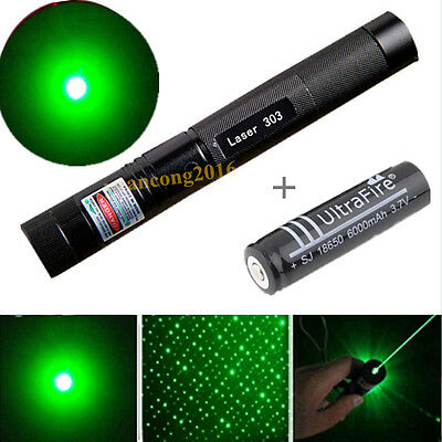 10 Miles Military Green 1mW 532nm Light Beam Laser Pointer Pen For Cats +Battery