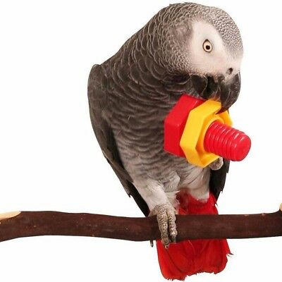 4* Toy Bird Parrot Nuts Bolts Screw Chew Bite Large Plastic Bird Toy Part Foot