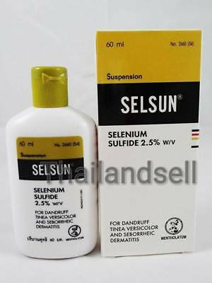 SELSUN Anti Dandruff Selenium Sulfide 2.5% Medicated Shampoo 60 ml/ 2Oz Exp.2020