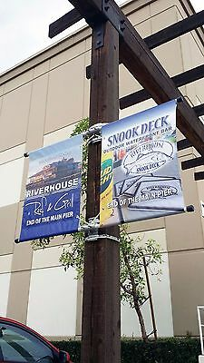 "6 pcs of Double Sided Street Pole Banner 18"" -Hardware Only"