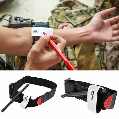 Military Red tip Tourniquet Wölbung unwrapped Bandage Gloves First Aid Schwarz