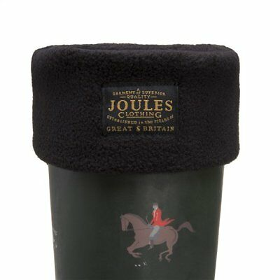 New Womens Joules Black Welton Polyester Welly Socks