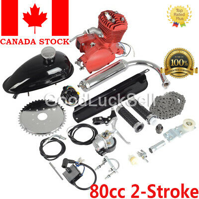 Universal Red 80CC 2 Stroke Gas Engine Motor Kit DIY Motorized Bicycle Bike CAN!