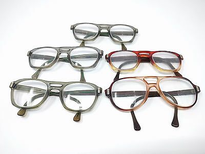 Lot of 5 American Optical Eyeglass Frames AO Z87 Safety Vintage