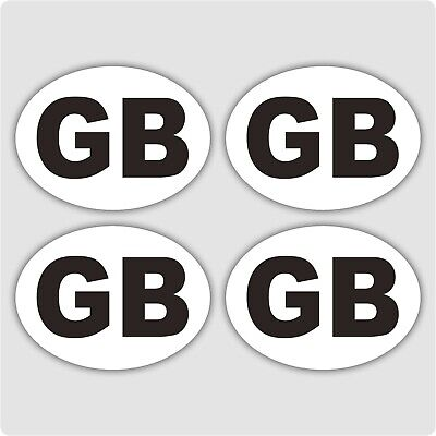 4 x SMALL GB Car Van Lorry vinyl Self Adhesive stickers