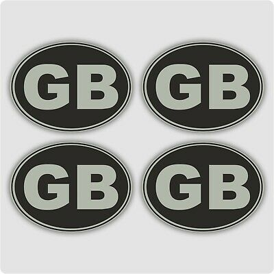 4 x SMALL METALLIC GB Car Van Lorry vinyl Self Adhesive stickers