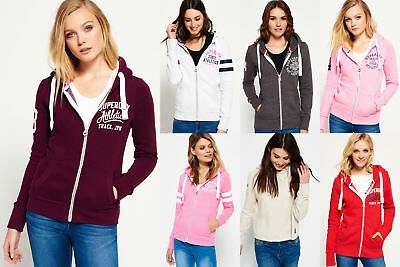 New Womens Superdry Hoodies Selection - Various Styles & Colours 2610
