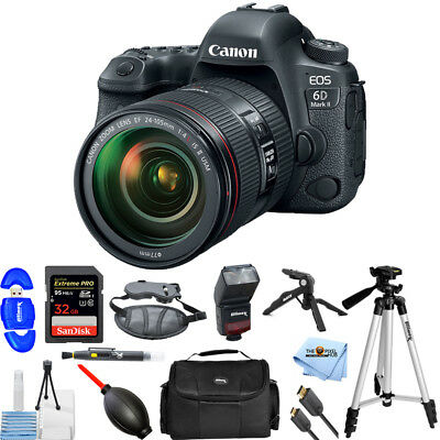 Canon EOS 6D Mark II DSLR Camera with 24-105mm f/4 Lens!! PRO BUNDLE BRAND NEW!!