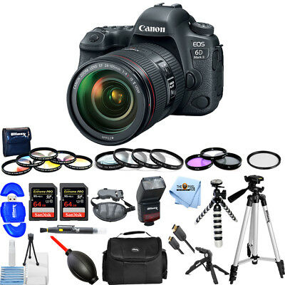 Canon EOS 6D Mark II DSLR Camera with 24-105mm f/4 Lens! MEGA BUNDLE BRAND NEW!!