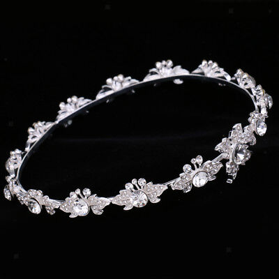 Wedding Bridal Crystal Flower Tiara Crown Headdress Headband Hair Accessory